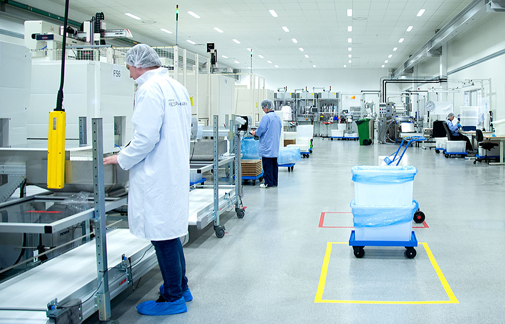 The base in our production is a state of the art cleanroom classified according to ISO14644-1 class 8. We injection mould, assemble and package your products in a highly controlled and clean environment.